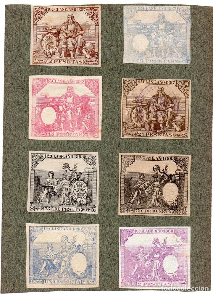 NUM017 LOTE DE 8 SELLOS FISCALES. ESPAÑA. DE 1887 A 1888 (Sellos - Material Filatélico - Otros)