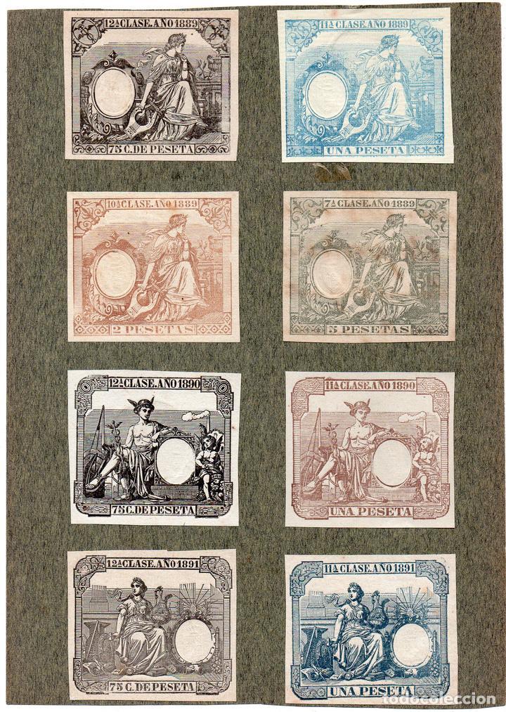NUM018 LOTE DE 8 SELLOS FISCALES. ESPAÑA. DE 1889 A 1891 (Sellos - Material Filatélico - Otros)