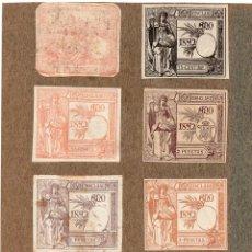 Sellos: NUM019 LOTE DE 8 SELLOS FISCALES. ESPAÑA. DE 1891 A 1893. Lote 86107928