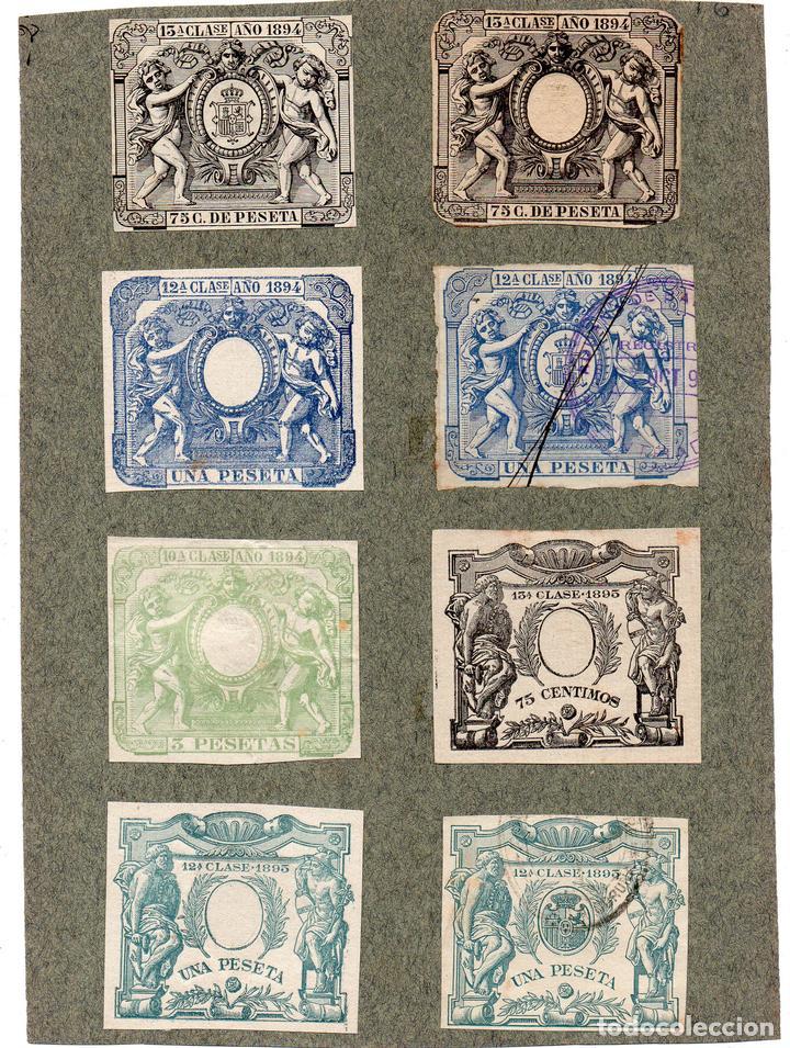 NUM020 LOTE DE 8 SELLOS FISCALES. ESPAÑA. DE 1894 A 1895 (Sellos - Material Filatélico - Otros)