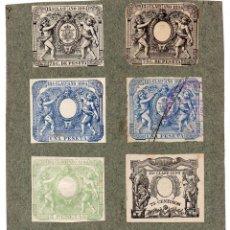 Sellos: NUM020 LOTE DE 8 SELLOS FISCALES. ESPAÑA. DE 1894 A 1895. Lote 86108204