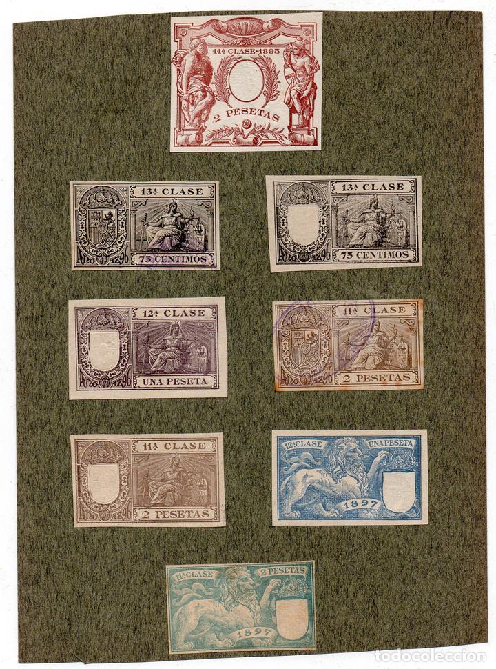 NUM021 LOTE DE 8 SELLOS FISCALES. ESPAÑA. DE 1895 A 1897 (Sellos - Material Filatélico - Otros)