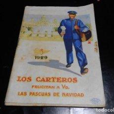 Sellos: LOS CARTEROS 1929 FELICITAN A VD. LAS PASCUAS DE NAVIDAD LIBRILLO. Lote 86214636