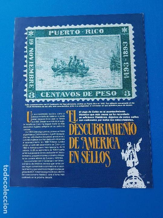 EL DESCUBRIMIENTO DE AMERICA EN SELLOS – REVISTA MUY INTERESANTE (Sellos - Material Filatélico - Otros)