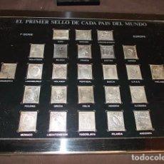 Sellos: PLANCHA DE EUROPA SELLOS DEL MUNDO EN PLATA 999 CON 25 SELLOS. Lote 90038872