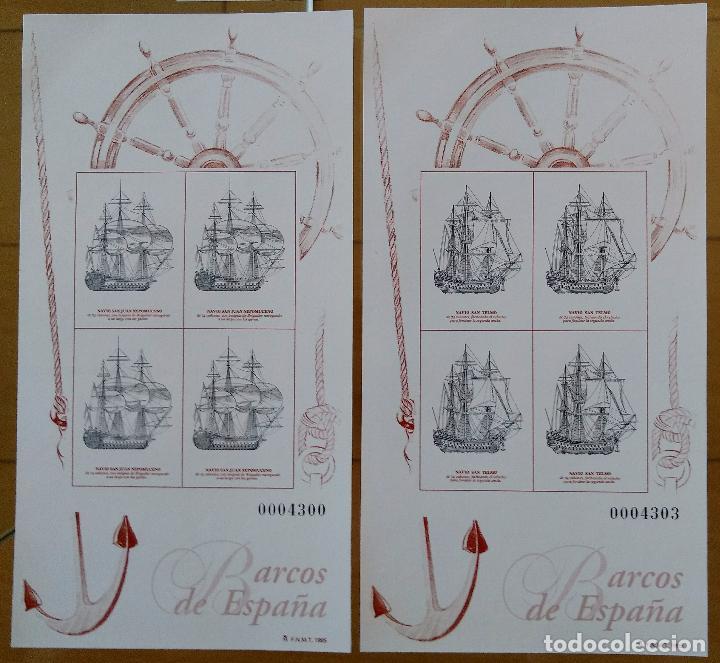 Sellos: 2 JUEGOS BARCOS DE ÉPOCA AÑOS 1995,1996 Y 1997 MAS PRUEBAS DE ARTISTA AÑO 1995 - Foto 2 - 94556927