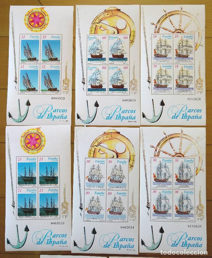 Sellos: 2 JUEGOS BARCOS DE ÉPOCA AÑOS 1995,1996 Y 1997 MAS PRUEBAS DE ARTISTA AÑO 1995 - Foto 3 - 94556927