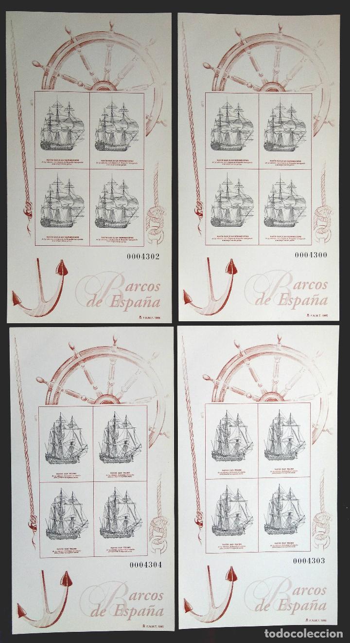 Sellos: 2 JUEGOS BARCOS DE ÉPOCA AÑOS 1995,1996 Y 1997 MAS PRUEBAS DE ARTISTA AÑO 1995 - Foto 6 - 94556927