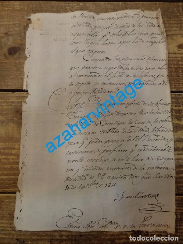 Sellos: papel timbrado fiscal Jose Napoleon año 1811 sello 4º de 40 maravedis timbrologia , independencia, - Foto 3 - 94917947