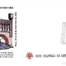Sellos: MATASELLOS REUS 2002 EXPOSIC. FILAT. GAUDI I ARQUITECTURA . Lote 95620119
