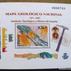 Sellos: HOJA BLOQUE 1921-2003 INSTITUTO GEOLÓGICO Y MINERO DE ESPAÑA. Lote 95740635