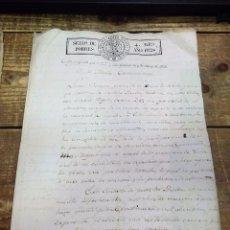 Sellos: PAPEL TIMBRADO FISCAL 1820 FERNANDO VII SELLO DE POBRES TIMBRE 4 MARAVEDIS TIMBROLOGIA HABILITADO. Lote 97913463