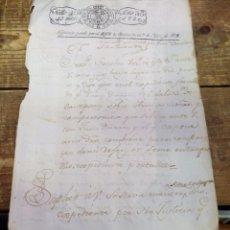 Sellos: PAPEL TIMBRADO FISCAL 1820 FERNANDO VII SELLO 4º TIMBRE 40 MARAVEDIS TIMBROLOGIA. Lote 97913787
