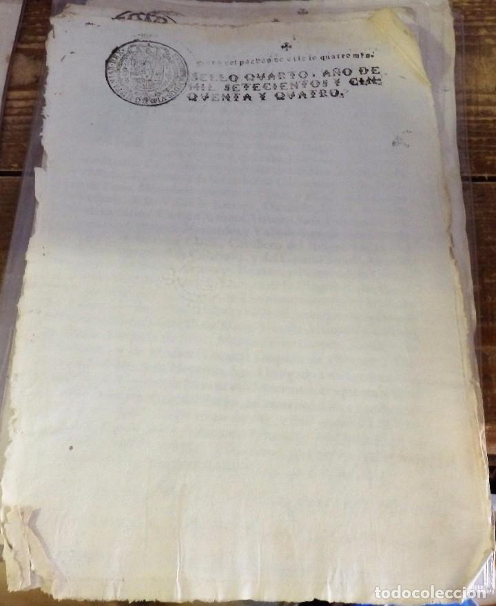 PAPEL EN BLANCO TIMBRADO FISCAL 1754 FERNANDO VI SELLO DE OFICIO TIMBRE 4 MARAVEDIS TIMBROLOGIA (Sellos - Material Filatélico - Otros)