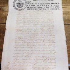 Sellos: PAPEL TIMBRADO FISCAL FERNANDO VII AÑO 1813 , SELLO 2º DE 272 MARAVEDIS. Lote 99792463