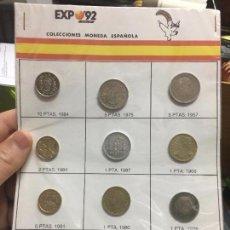 Sellos: COLECCION MONEDAS ESPAÑOLA EN LA EXPO SEVILLA 92 - 4. Lote 100543359