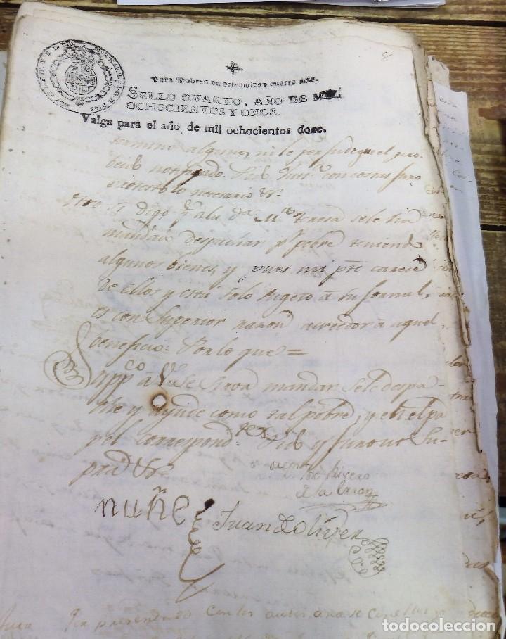 PAPEL FISCAL HABILITADO JOSE NAPOLEON AÑO 1812 SELLO POBRES DE 4 MARAVEDIS TIMBROLOGIA , INDEPENDENC (Sellos - Material Filatélico - Otros)