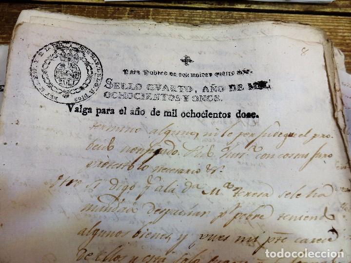 Sellos: papel fiscal habilitado Jose Napoleon año 1812 sello Pobres de 4 maravedis timbrologia , independenc - Foto 2 - 100630755