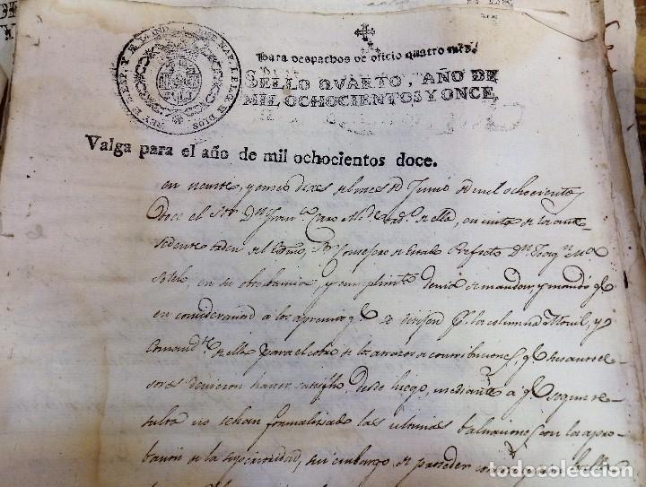 PAPEL FISCAL HABILITADO JOSE NAPOLEON AÑO 1812 SELLO OFICIO DE 4 MARAVEDIS TIMBROLOGIA , INDEPENDENC (Sellos - Material Filatélico - Otros)
