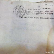 Sellos: HABILITADO JOSE NAPOLEON AÑO 1812 SELLO OFICIO DE 4 MARAVEDIS TIMBROLOGIA , INDEPENDENCIA , EN BLAN. Lote 100632771
