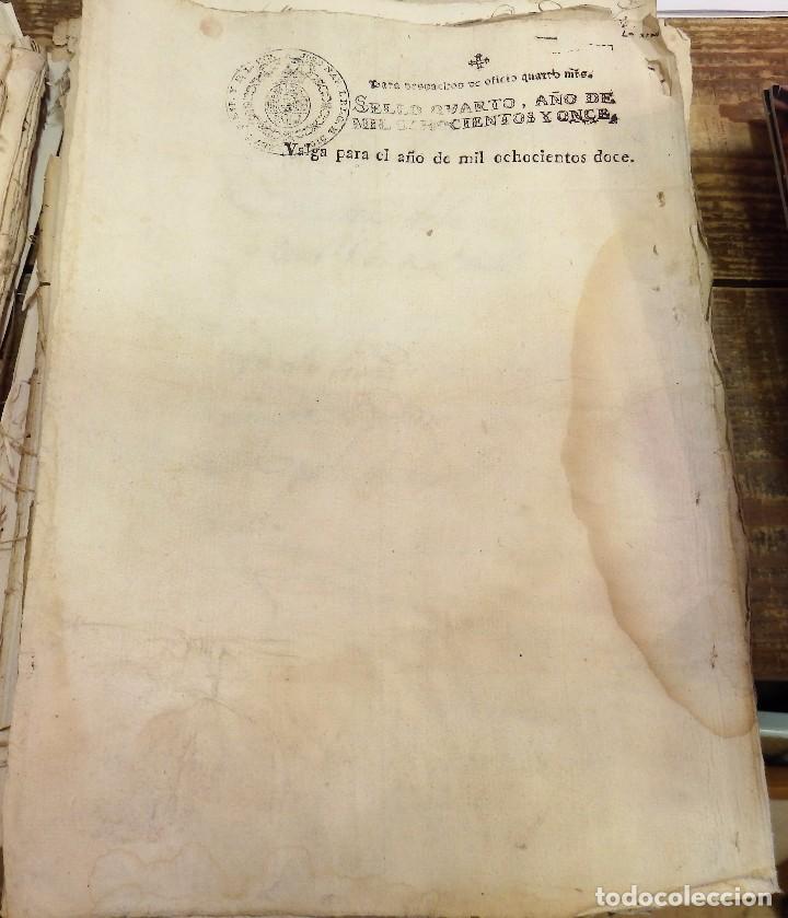 Sellos: habilitado Jose Napoleon año 1812 sello oficio de 4 maravedis timbrologia , independencia , en blan - Foto 2 - 100632771