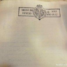 Sellos: PAPEL SELLADO TIMBRADO FISCAL AÑO 1832 FERNANDO VII SELLO OFICIO 4 MARAVEDIES TIMBROLOGIA ,EN BLANCO. Lote 100634299