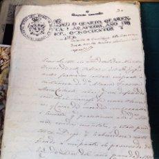 Sellos: PAPEL TIMBRADO FISCAL FERNANDO VII AÑO 1813 , SELLO 4º DE 40 MARAVEDIS TIMBROLOGIA . Lote 101641547