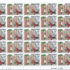 Sellos: SELLOS WALT DISNEY SERIE DE 6 PLIEGOS DE 25 SELLOS NUEVOS DE GRENADA 1981 LA CENICIENTA. Lote 194955682