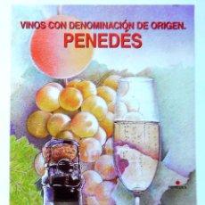 Sellos: VINOS DENOMINACION PENEDES INFORMACION SELLOS CORREOS DIPTICO 2003. Lote 101758963