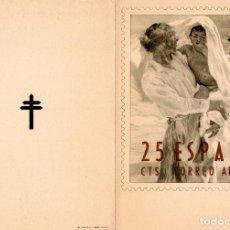 Sellos: FELICITACIÓN NAVIDEÑA DIRECTOR PATRONATO ANTITUBERCULOSO AÑO 1952. FILATELIA. MEDICINA. Lote 109297395
