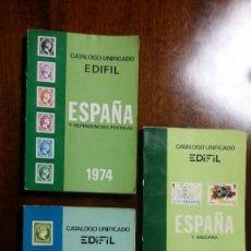 Sellos: CATALOGO UNIFICADO EDIFIL 1974, 1980 Y 1981. Lote 114031511