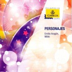 Sellos: ESPAÑA.- FOLLETO DE INFORMACIÓN FILATÉLICA AÑO 2013.- PERSONAJES. Lote 115174679