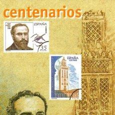 Sellos: ESPAÑA.- FOLLETO DE INFORMACIÓN FILATÉLICA Nº 24/1998.- CENTENARIOS. Lote 115384599