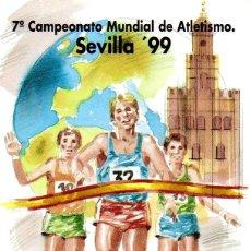 Sellos: ESPAÑA.- FOLLETO DE INFORMACIÓN FILATÉLICA Nº 8/1999.- 7º CAMPEONATO MUNDIAL DE ATLETISMO. Lote 115401395
