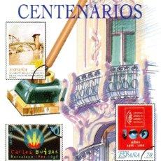 Sellos: ESPAÑA.- FOLLETO DE INFORMACIÓN FILATÉLICA Nº 18/1999.- CENTENARIOS. Lote 115403687