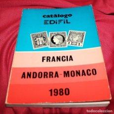Sellos: CATÁLOGO EDIFIL 1980 FRANCIA ANDORRA MÓNACO SELLOS. Lote 116133107