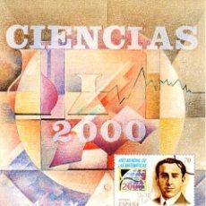 Sellos: ESPAÑA.- FOLLETO DE INFORMACIÓN FILATÉLICA Nº 11/2000.- CIENCIAS 2000. Lote 116758127