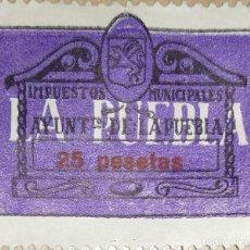 Sellos: SELLO IMPUESTOS MUNICIPALES 25 PESETAS, AÑO 1967. Lote 195266660