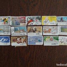 Sellos: LOTE DE 15 SELLOS ES ESPAÑA ATMS. Lote 117678463