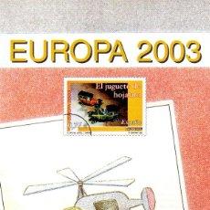 Sellos: ESPAÑA.- FOLLETO DE INFORMACIÓN FILATÉLICA AÑO 2003. Lote 118796059