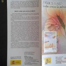 Sellos: ESPAÑA,14-10-2005,DÍPTICO-FOLLETO FILATELIA CORREOS,AMÉRICA UPAEP. Lote 124200927