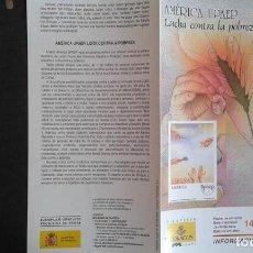 Sellos: ESPAÑA,14-10-2005,DÍPTICO-FOLLETO FILATELIA CORREOS,AMÉRICA UPAEP. Lote 124201143