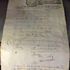 Sellos: TIMBROLOGÍA FISCAL 1808 SELLO DE OFICIO 4 MARAVEDIS. HABILITADO FERNANDO VII. Lote 126996911