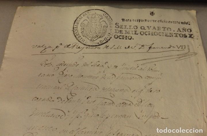 Sellos: TIMBROLOGÍA FISCAL 1808 SELLO DE OFICIO 4 MARAVEDIS. HABILITADO FERNANDO VII - Foto 2 - 126996911
