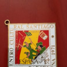 Sellos: MEDALLA CENTRO CULTURAL SANTIAGO, BARCELONA 1971. Lote 128079583