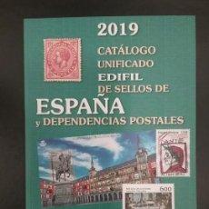 Sellos: CATÁLOGO UNIFICADO EDIFIL SELLOS ESPAÑA Y DEPENDENCIAS POSTALES 2019. Lote 185934832