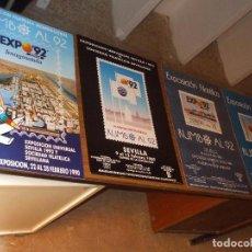 Sellos: CARTEL 35 X 50 EXPO 92, DE LAS 4 EXPOSICIONES FILATELICAS RUMBO AL 92, CARTEL SIN DOBLAR, PERFECTO. Lote 151437364