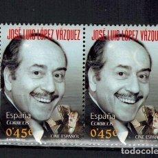 Timbres: SELLO DE ESPAÑA DE JOSE LUIS LOPEZ VAZQUEZ CON FALLO DE IMPRENTA. Lote 135191058