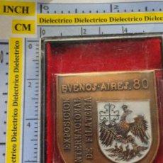 Timbres: MEDALLA MEDALLÓN FILATELIA EXPOSICIÓN INTERNACIONAL FILATÉLICA BUENOS AIRES 80 1980. ARGENTINA 60GR. Lote 138969270