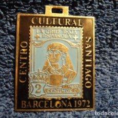 Sellos: MEDALLA CENTRO CULTURAL SANTIAGO 1972 FILATELIA. Lote 139252074